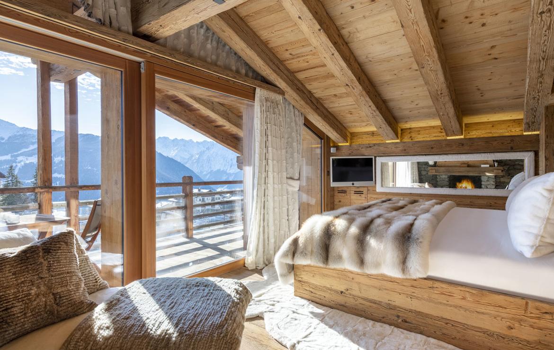 heinz-immobilier Luxueux appartement Verbier suite avec balcon