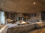 heinz-immobilier Luxueux appartement - salon avec Cheminée française - Résidence Centre Verbier